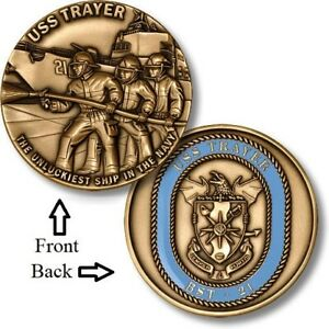 Battle Stations ~ USS Trayer ~ BST-21 ~ U.S. Navy ~ Challenge Coins ~