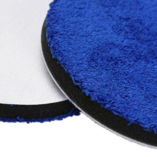 2Pcs 3//4//5//6//7inch Microfiber Polishing Pads Buffing Pad Set For Car Polisher