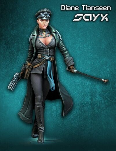 Scale 75 Diane Tianseen Steam punk 75mm Metal Unpainted Kit