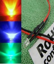 10x 5mm Blue/Green/Red Slow Flash Flashing RGB Water Clear 3v/6v/9v12v LED SCF5L