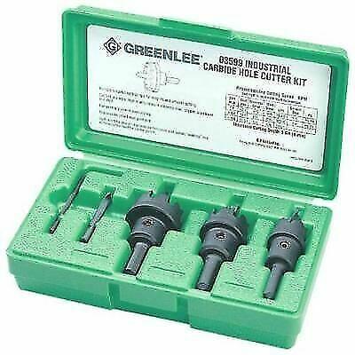 Greenlee 635 Hole Cutter Kit 5 PC Tungsten Carbide for sale online
