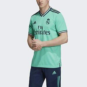 Details about Medium Adidas Real Madrid Fly Emirates Football Soccer 3rd Jersey Green 2019-20