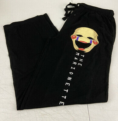 Mens Womens NEW Five Nights at Freddy/'s Pizza Black Pajama Lounge Pants XS-2XL