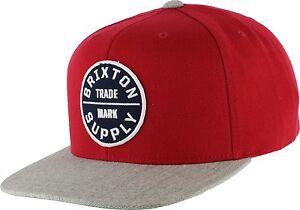 26e3b7ca492e9 Image is loading New-Brixton-Oath-III-Mens-Snapback-Cap-Hat