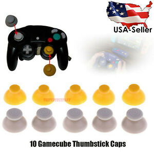 For-10-Gamecube-Thumbstick-Caps-Replacement-Controller-Joystick-Rubber-5-Sets