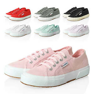 Superga-Sneaker-Donna-low-top-canvas-scarpe-sportive-color-mix-NUOVO-SALE