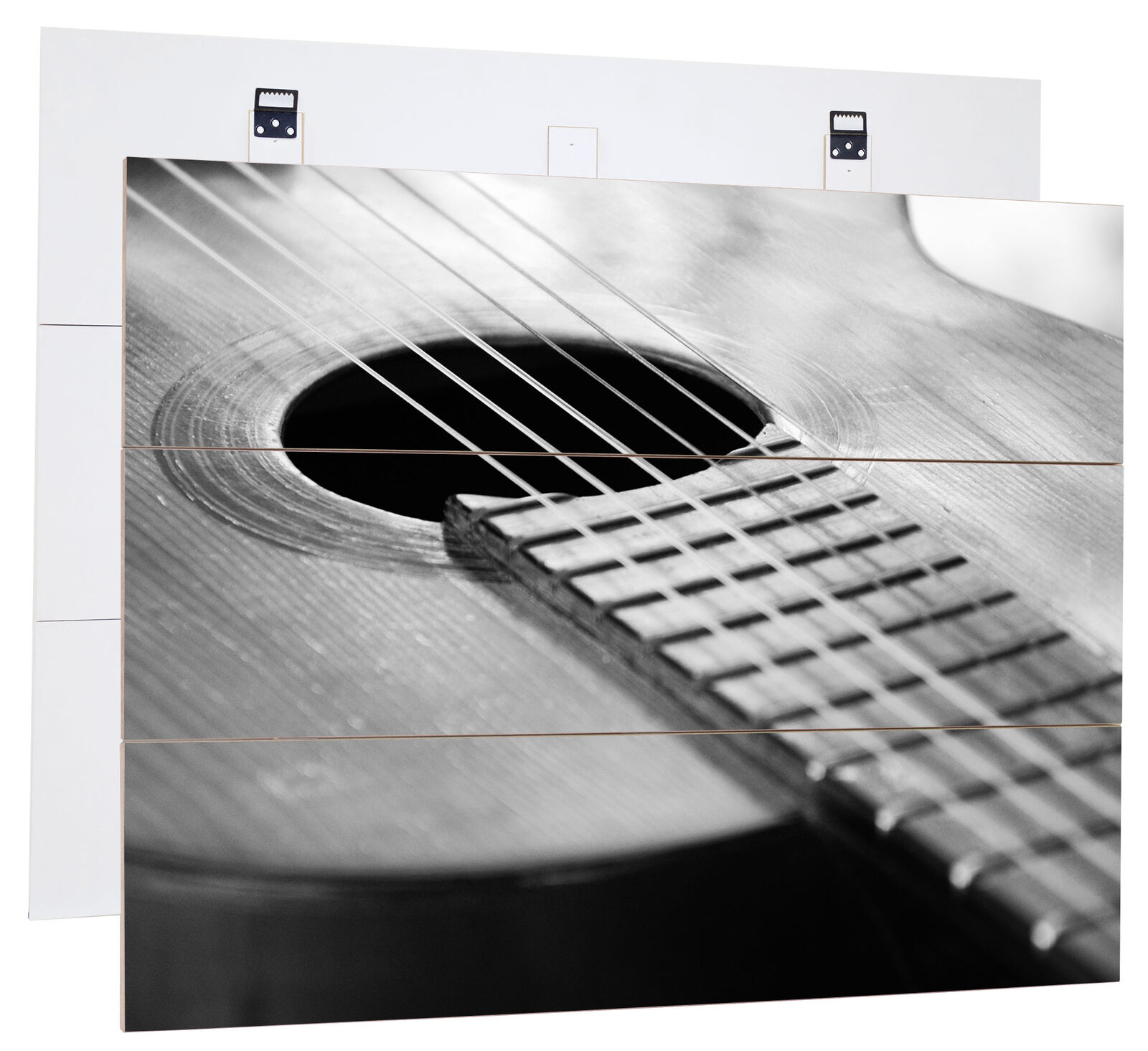 Guitar Stbagues On Sound Hole-MDF bois Picture in boisen Look Wall Decoration
