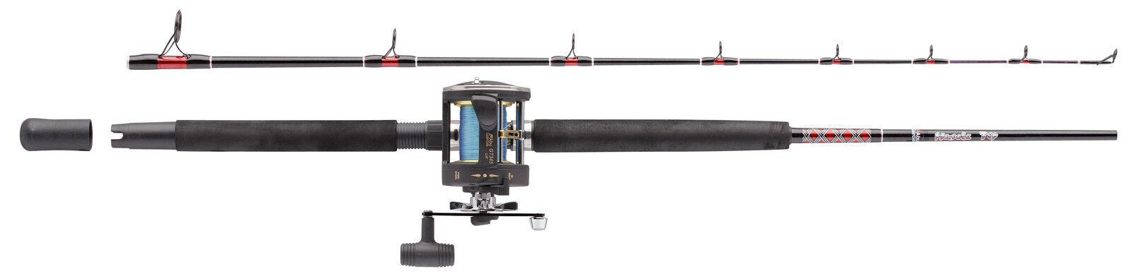 Abu Garcia Muscle Tip Boat Rod & Reel 6 & 7 Ft Solid Glass Tip & Multipler Reel