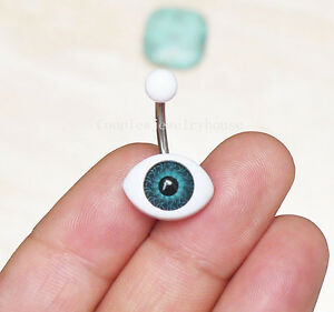 2ps Handmade Evil Eye Belly Ring Belly Button Piercing Body Jewelry