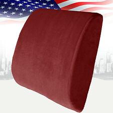 Memory Foam Lumbar Cushion Back Support Travel Pillow Car Seat Home Office Chair