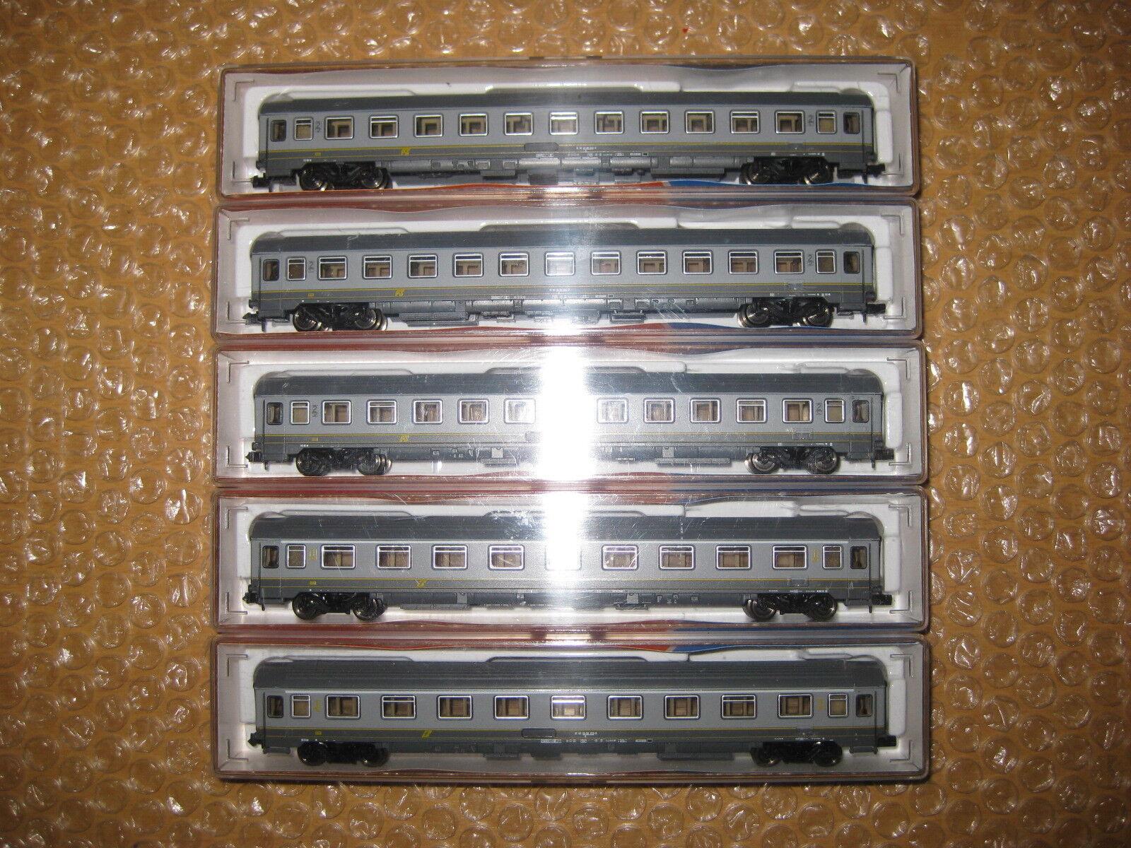 ROCO Spur N 5 xeurofimareisezugwagen delle FS 2xnr.24356+3x24357/r626