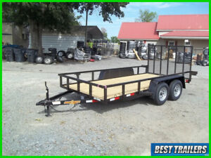 2021 down 2 earth 76 x 16 utility atv side by side trailer tubing and LED utv