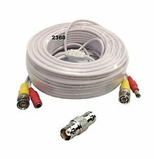25 Feet BNC Video and Power Extension Cable with Connector for Security Camera