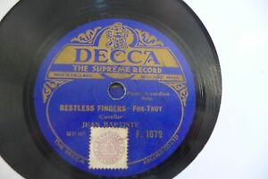 JEAN BAPTISTE 78RPM ENTRY OF THE GLADIATORS/RESTLESS FINGERS CUVELIER.ACCORDION - France - État : Occasion: Objet ayant été utilisé. Consulter la description du vendeur pour avoir plus de détails sur les éventuelles imperfections. ... Vitesse: 78 tours Format: 25 cm - France