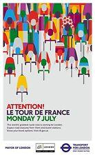 TOUR DE FRANCE 2014 OFFICIAL LONDON TRANSPORT FOR LONDON DEPART POSTER NO.2