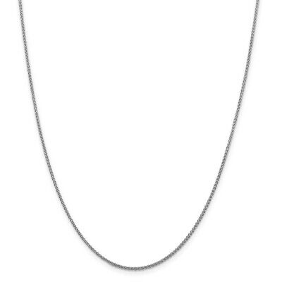 Details about  /Leslie/'s Real 10kt White Gold Diamond Cut 1.5mm Spiga Chain; 18 inch Wheat