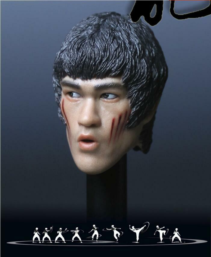 1 6 Bruce Lee Head Sculpt Sculpt Sculpt 7.0 battle v. w  hands for Hot Toys Phicen M32 ❶USA❶ 950a28