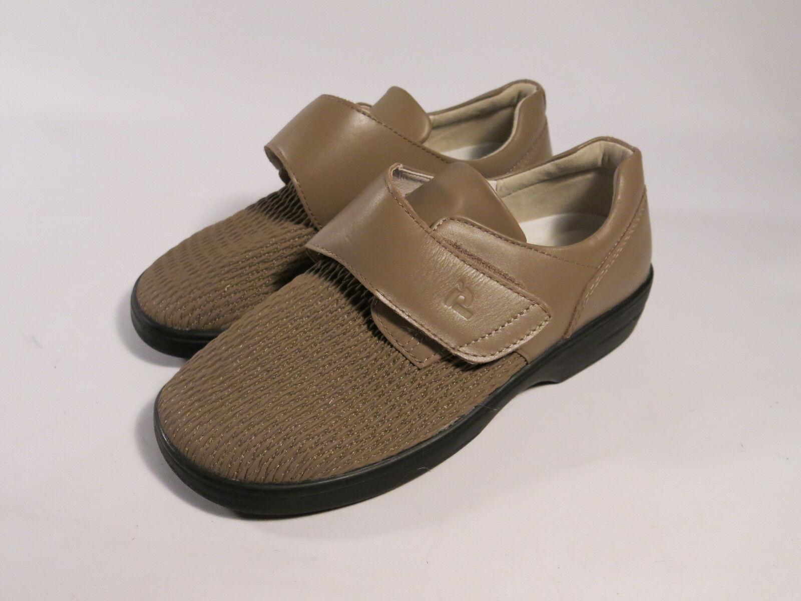 Menta Propet para para para mujer 8 Olivia Velcro Comodidad Plana Zapatos Oxford Bronceado Ped receta  promociones