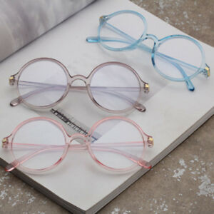 3cd6ebf766 2019 Women Men Anti Blue Light Glasses Frame Vintage Round Clear ...
