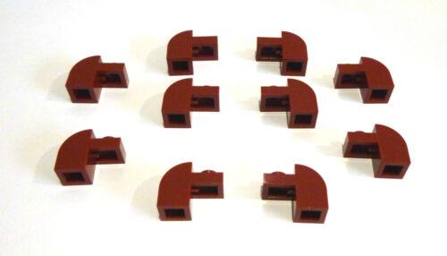 10 x LEGO® 6091City,Baustein,Bogensteine 1x2 in bordeaux,new dark red Neuware