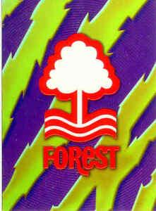 1999-Merlin-Premier-Gold-Soccer-Team-Logo-Foil-Card-A15-Nottingham-Forest