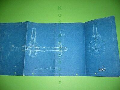 312ka1 Alte Blaupause, Plan, Zeichnung, Hinterachse Mw (motorwagen ?) 16/6 Exzellente QualitäT