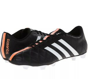 pretty nice 780c7 391d9 Image is loading Adidas-11Questra-FG-Soccer-Cleats-Black-Orange-7US-