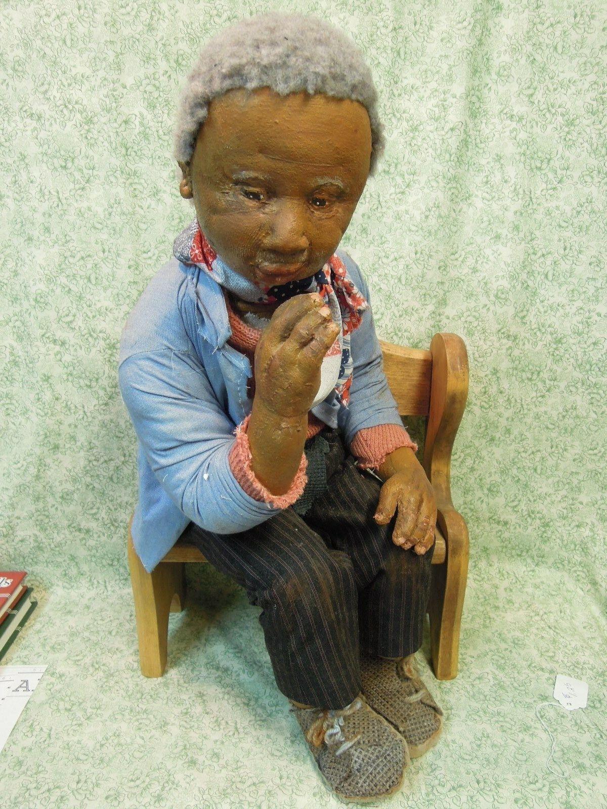 Den-212 Dianne Dengel uno de una tipo muñeca;  Hobo parque Banco pensador  20  De Alto