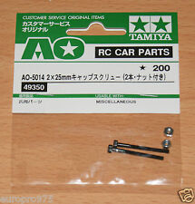 Tamiya 49350/9805669 2x25mm Cap Screw w/Nut (2 Pcs.) (DB01/DF03/TRF501x/TA05)