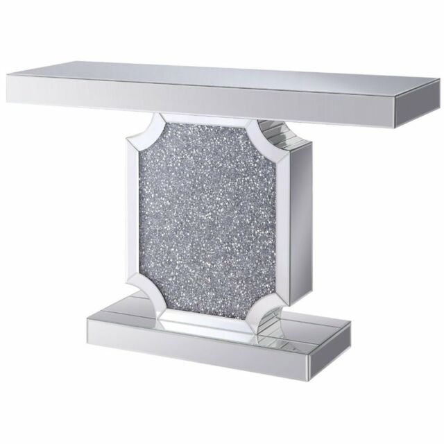 Acme Nie Console Table In Mirrored