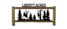 Electrical Lineman And Whitetail Deer Clingermans Outdoor Signs