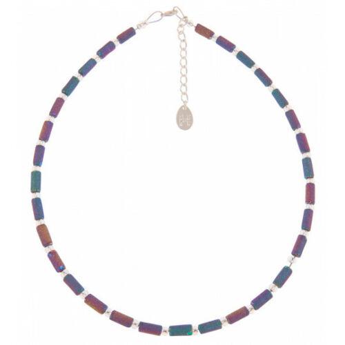 N1526 BNWT Carrie Elspeth Spectrum Lava Tubes Full Necklace