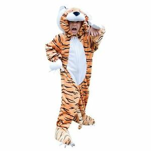 Image is loading Travis-Toddlers-Childs-Tiger-Costume-Cat-Plush-Fancy-  sc 1 st  eBay & Travis Toddlers Childs Tiger Costume Cat Plush Fancy Dress Animal ...