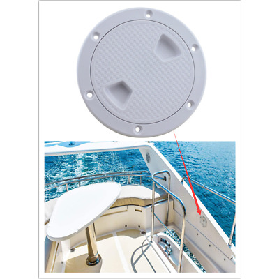 """4"""" Boat Deck Plate Plastic Round Non Slip Inspection Hatch With Detachable Cover"""