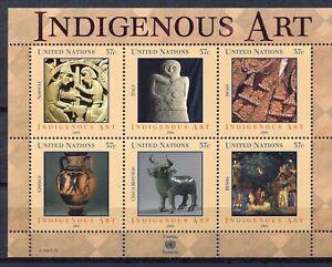 S9723) United Nations(Ny) MNH 2004, Indigenous Art 6v M/S