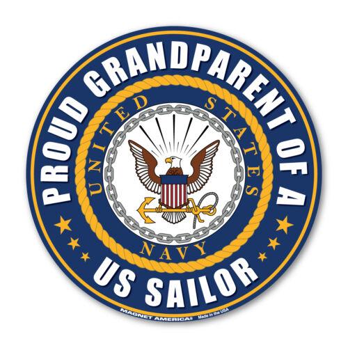 Proud Grandparent of a US Sailor USN United States Navy Round Magnet