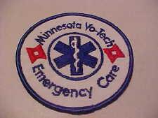 MINNESOTA VO TECH EMERGENCY CARE E.M.S. PATCH 3 1/2 X 3 1/2 INCH