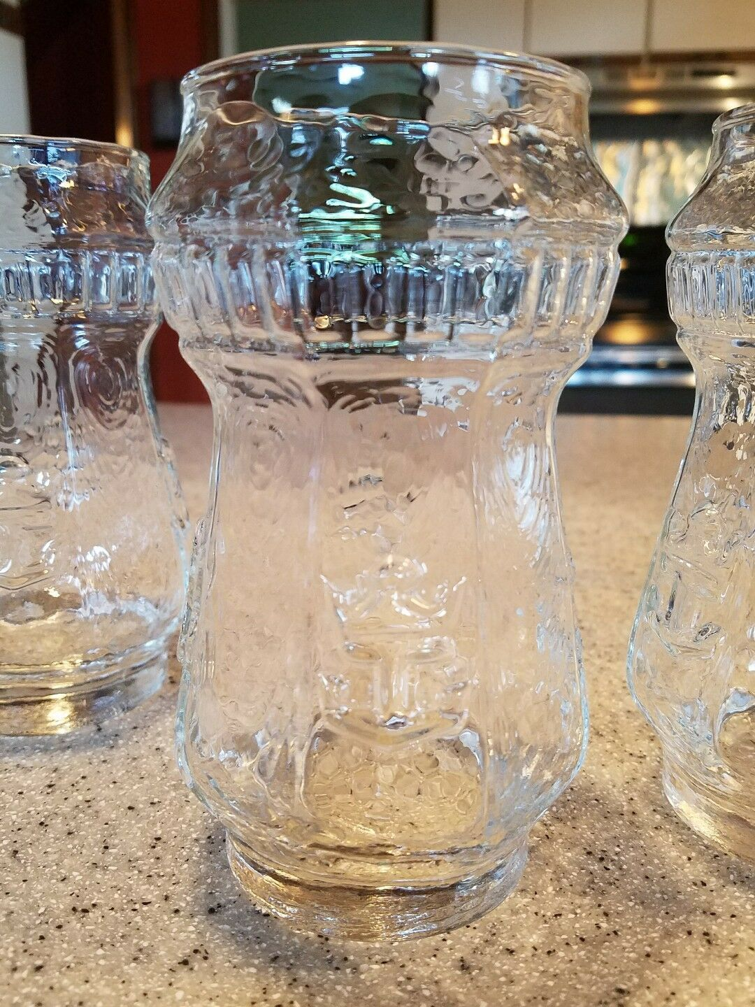 Rare 4Vintage Glasses With Boat Anchors Drinking Bar Glasses