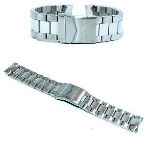 Dettagli su Cinturino per orologio nautica originale in acciaio ansa curva 22mm a36510g