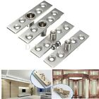 1pair 74mm Length Hardware Stainless Steel 360 Degree Door Pivot Hinges