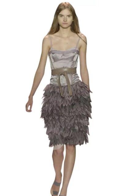 dd7cb0e9f9c2 BCBG MAX AZRIA RUNWAY Dress Size 2 NEW Satin Corset Organza Petals FREE  SHIPPING