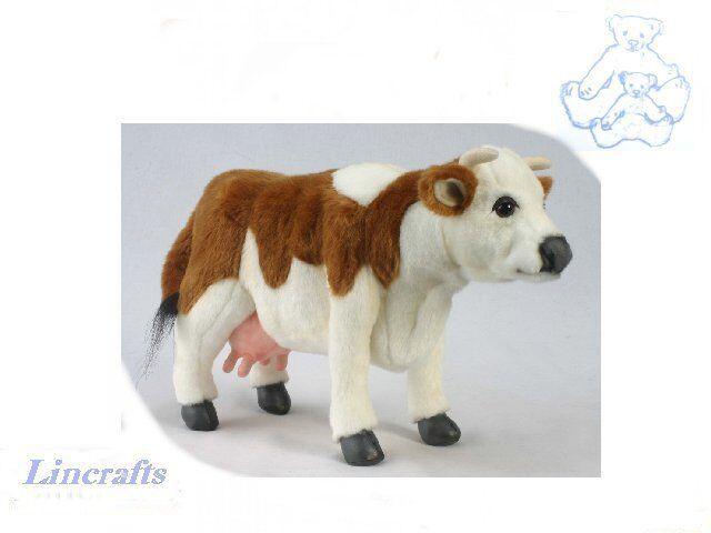 Braun/Weiß Cow Plush Soft Toy by Hansa. Sold by Lincrafts. 4621