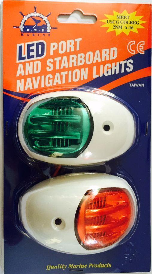 12v led navigation lights boat port starboard white 12 volt p and. Black Bedroom Furniture Sets. Home Design Ideas