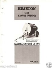 Farm Manual - Hesston - 1400 - Manure Spreader - Parts List (FM241)