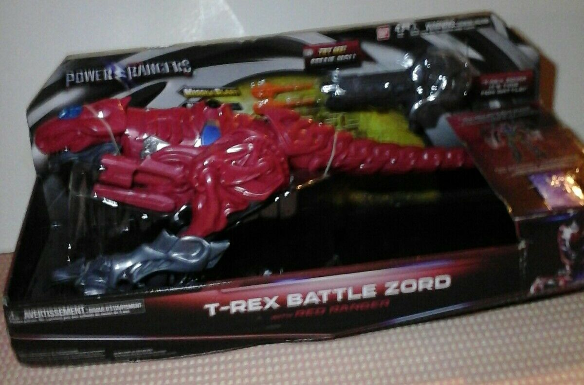 Power Rangers Movie Action Figure - T-Rex Battle Zord with Red Ranger