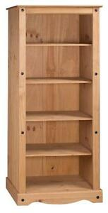 Corona-Bookcase-Large-Tall-4-Shelf-Display-Unit-Solid-Pine-by-Mercers-Furniture