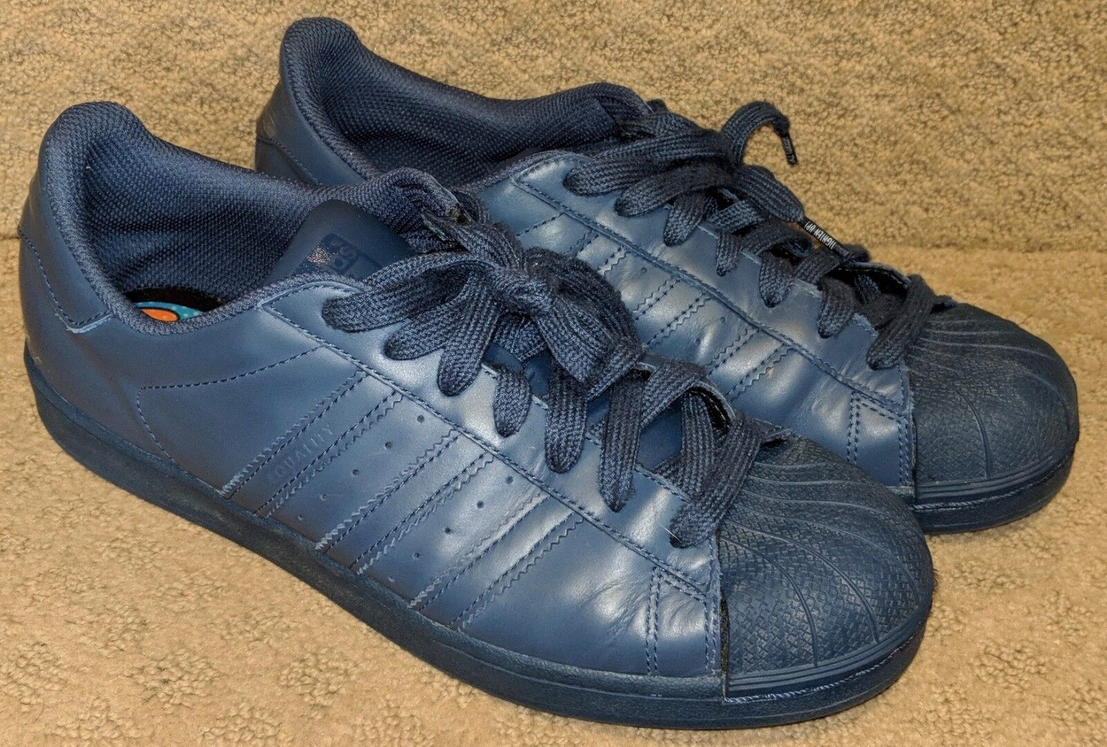 Adidas Pharrell Williams bluee Superstars Supercolor Pack Sneakers Size 9 S41811