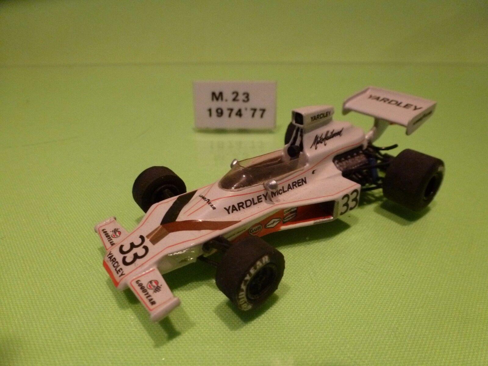 TENARIV KIT (built) McLAREN M23 1974 - MIKE HAILWOOD - F1 1 43 - NICE CONDITION