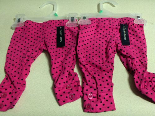 Lot of 2 NEW infant girls pants size 6-9 months byFaded Glory
