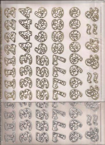 Scrapbooking Stickers Numbers 904-1554